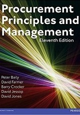 Procurement principles and management / Peter Baily, David Farmer, Barry Crocker, David Jessop and David Jones.