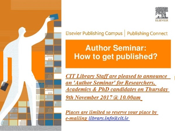 Upcoming 'Author Seminar' for Academics, Researchers & PhD Candidates
