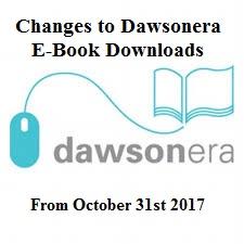 Important Notice for DawsonEra E-Book Users: