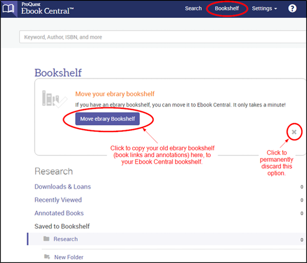 IMPORTANT ANNOUNCEMENT: The eBrary eBooks platform will in future be known an EBook Central