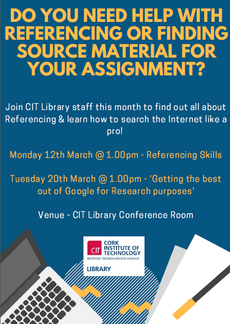 Library Information Sessions this March!