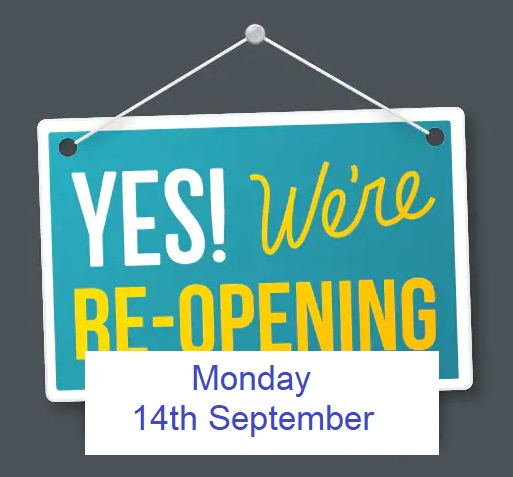 CIT Libraries re-open on Monday 14th September