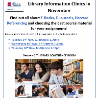 Library Information Clinics This Week!