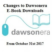 Important Notice for DawsonEra E-Book Users: