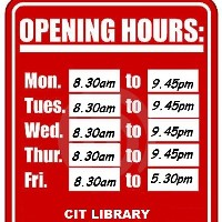CIT Library Opening Times