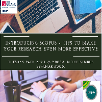 If you're a Researcher, Academic or Post Graduate Student - Register now for our Scopus Training Session on Tuesday 24th April.