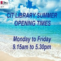 CIT Library Summer Opening Times